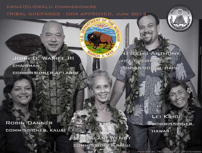 Hawaiian Roll Commissioners, Department of Interior, OHA, Office of Hawaiian Affairs, 2014, Kana'iolowalu Act 195